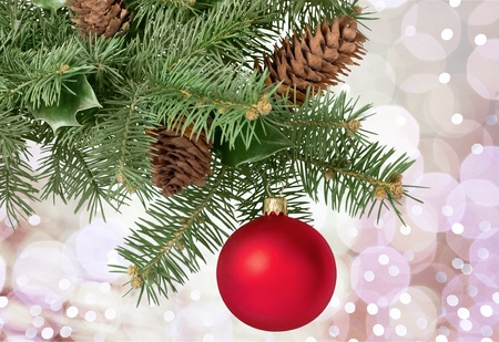 christmas sphere: Christmas Tree. Stock Photo