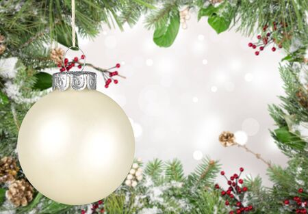 christmas isolated: Christmas Ornament. Stock Photo