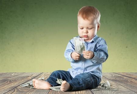 coin bank: Child Savings. Stock Photo