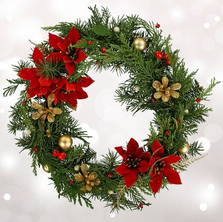 christmas isolated: Wreath. Stock Photo
