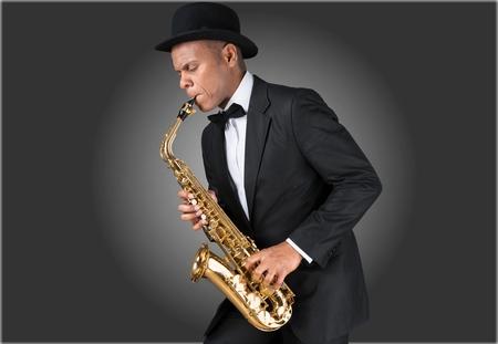 african sax: Jazz sax. Stock Photo