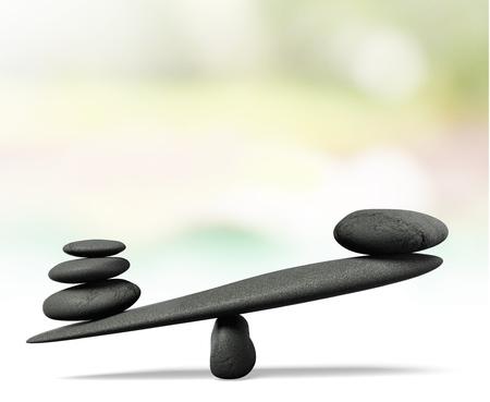 concepto equilibrio: Escala de peso.