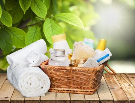 Personal Care: Skin care. Stock Photo