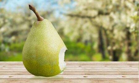 multiple objects: Pear. Stock Photo