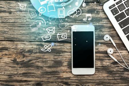 web marketing: phone Stock Photo