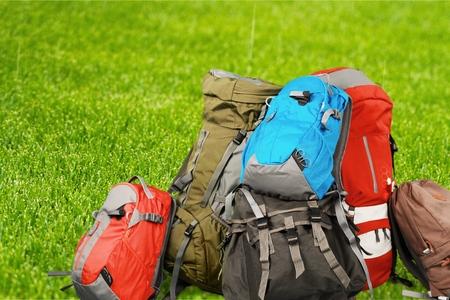 hiking shoes: Backpacks.