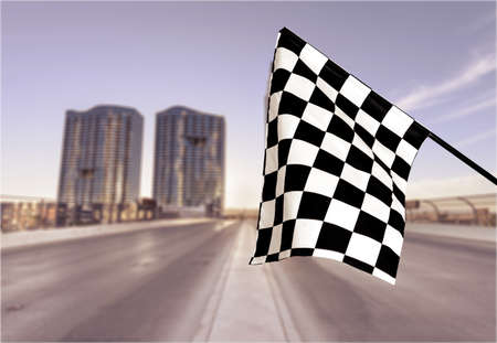 bandera carrera: La bandera a cuadros.