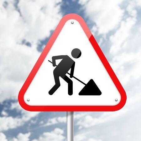 znak drogowy: Znak drogowy. Zdjęcie Seryjne