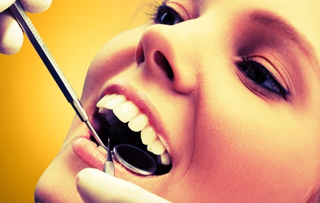 dentista: Dentista. Foto de archivo