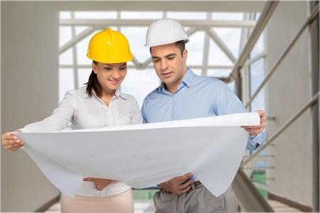 open collar: Engineer. Stock Photo