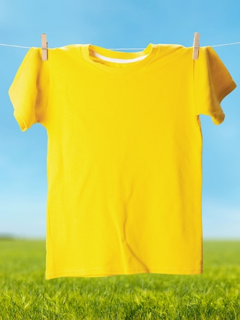 clean clothes: T-Shirt. Stock Photo