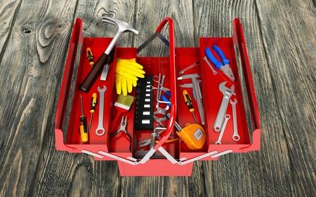 adjustable spanner: Toolbox.