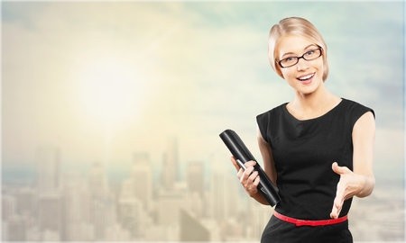 confident business woman: Businesswoman. Stock Photo