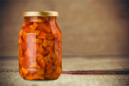 confiture: Canned confiture. Stock Photo