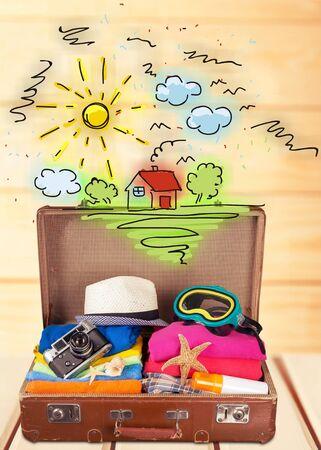valigia: Valigia di viaggio.