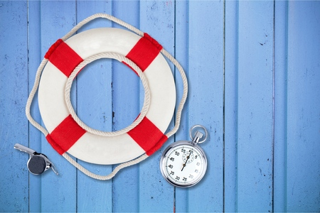 buoy: Life Buoy. Stock Photo