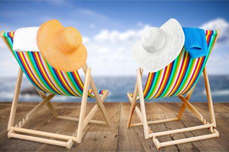 beach chairs: Beach chairs.