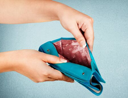 empty of people: Empty Wallet. Stock Photo