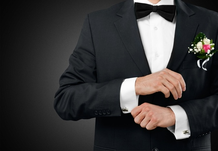 cuff link: Tuxedo. Stock Photo