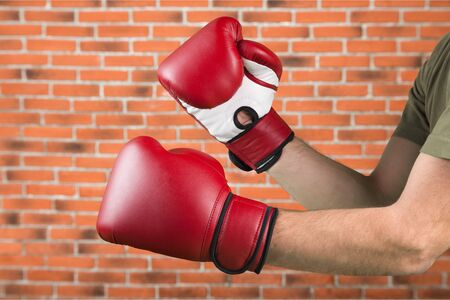 combative sport: Boxing Gloves.