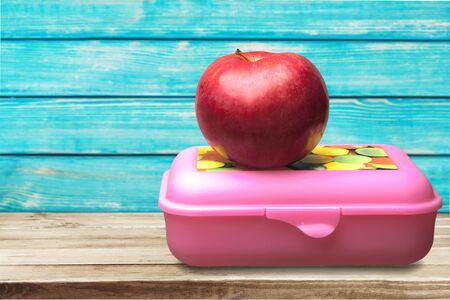 lunch box: Lunch Box. Stock Photo