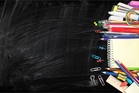 material escolar: Suministros escolares.  Foto de archivo