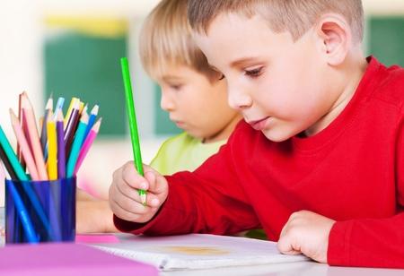kinderen: Schoolkinderen. Stockfoto