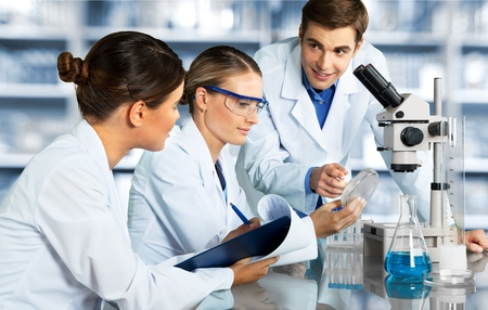 Laboratory Scientists. Stock Photo