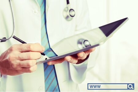 personal data assistant: Doctor with Digital Tablet.