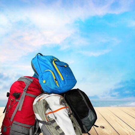 mochila de viaje: Mochila de viaje.
