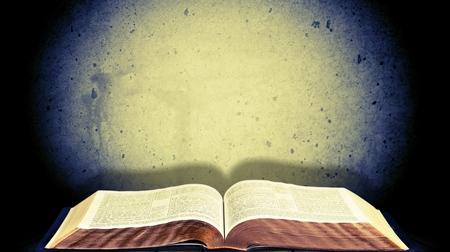 bible ten commandments: Open Bible.