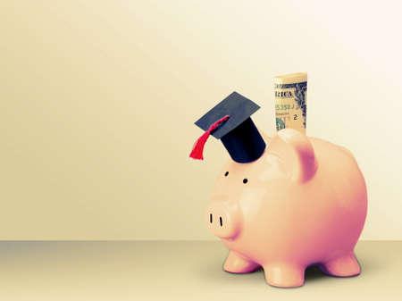 cost of education: University Finance. Stock Photo