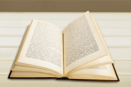 book pages: Open book. Stock Photo
