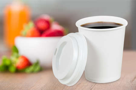 disposable: Paper cup. Stock Photo