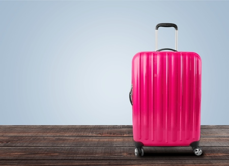 polycarbonate: Poly-carbonate suitcase. Stock Photo