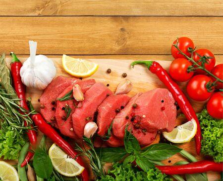 carne roja: Carne fresca.