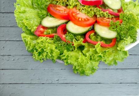 ensalada de verduras: Ensalada de vegetales.