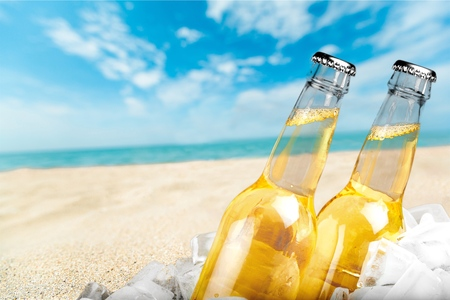 beer bottle: Beer.