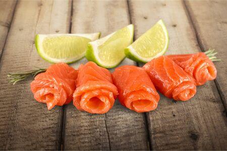 smoked: Salmon. Stock Photo