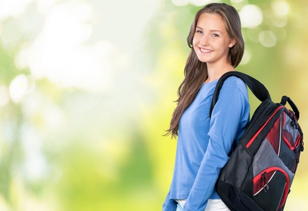 young women only: Student. Stock Photo