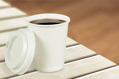paper cup: Paper cup. Stock Photo