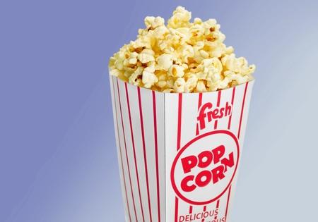 palomitas de maiz: Popcorn Box. Foto de archivo