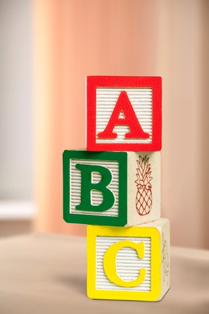 alphabet blocks: Alphabet Blocks. Stock Photo