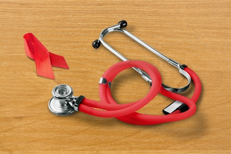 upperdeck view: Awareness Ribbon. Stock Photo