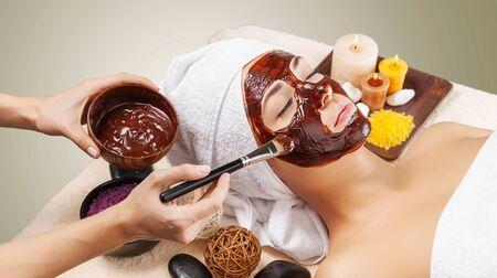 facial: Facial waxing. Stock Photo