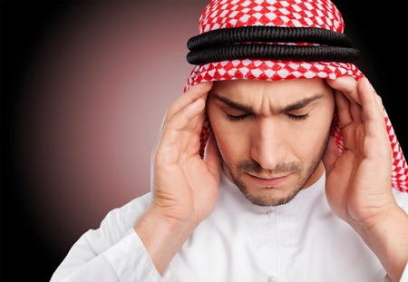 middle eastern clothes: Saudi. Stock Photo