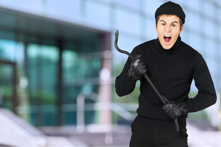 breaching: Burglar. Stock Photo