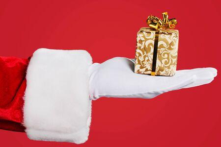 red hand: Santa Claus. Stock Photo