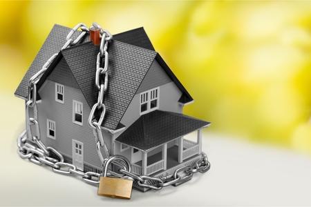 burglar protection: Home. Stock Photo