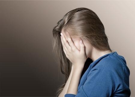 mujer llorando: Mujer. Foto de archivo